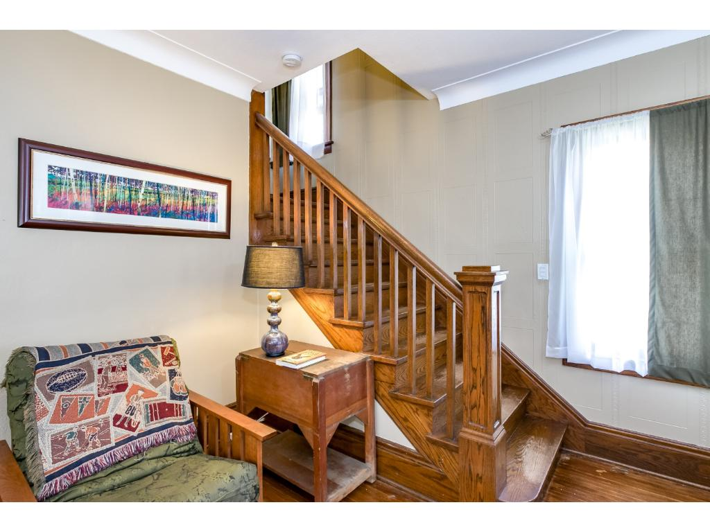 Love the banister in this home!