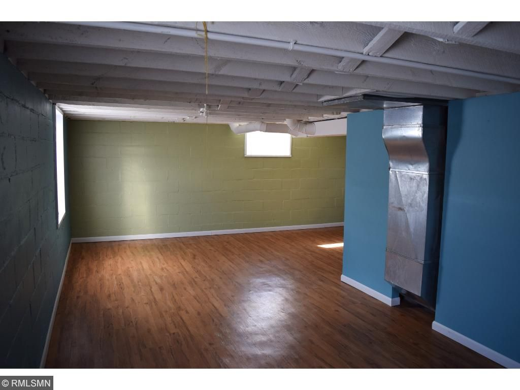 The finished floor in the lower level provides space for storage, entertaining, whatever you like.