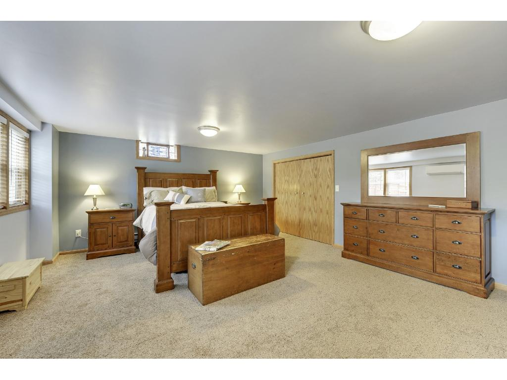 HUGE master suite in lower level.