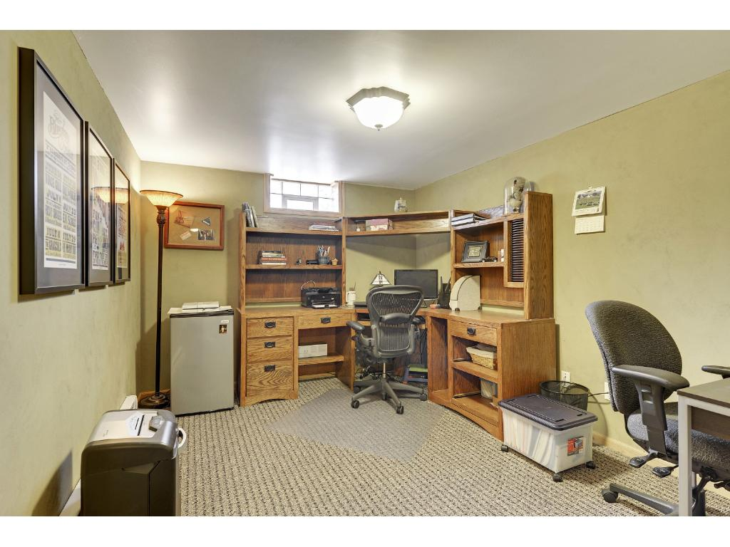 Office in lower level, next to master suite.
