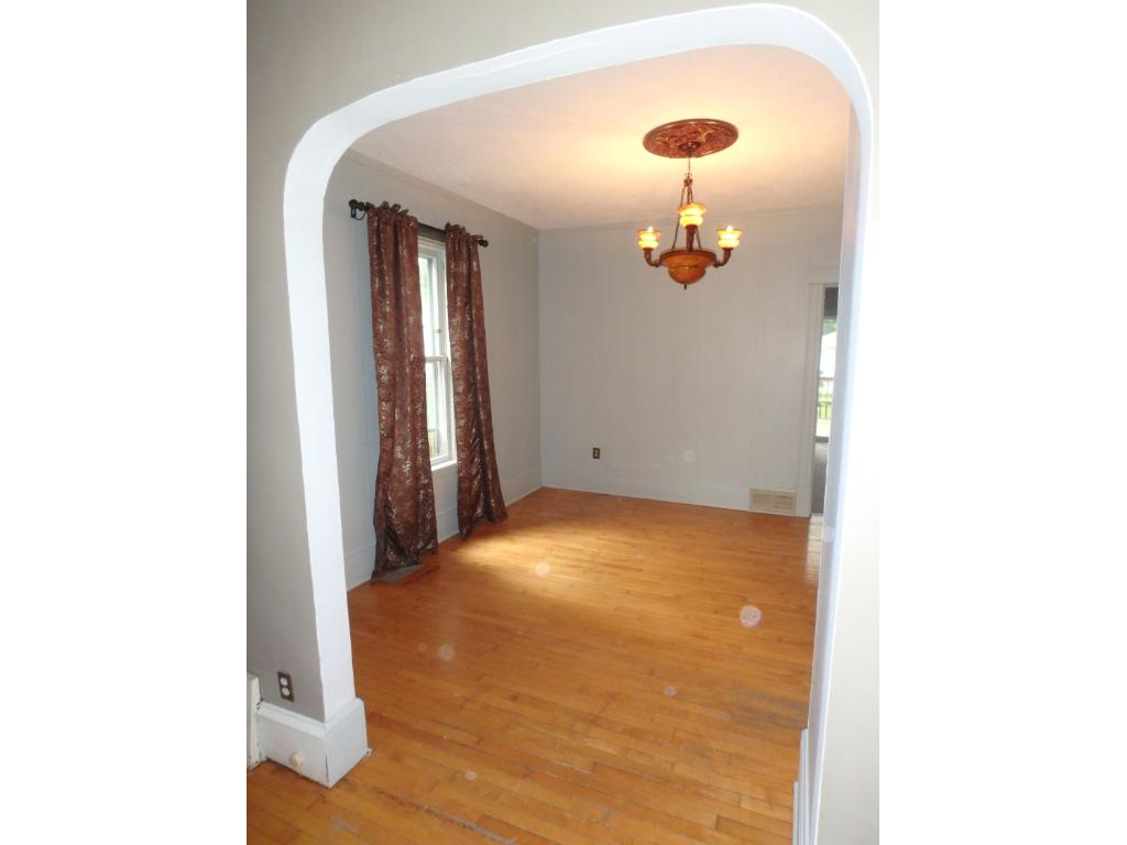 Archway between Living Room and Dining Room