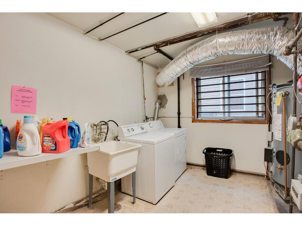 In building laundry room.