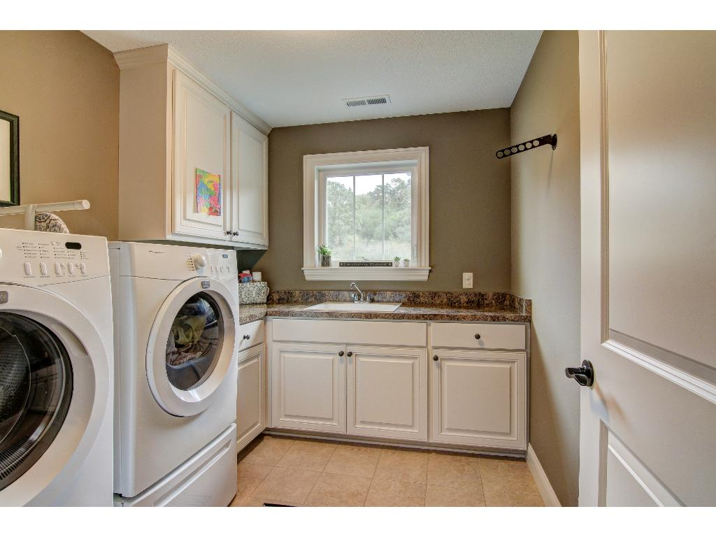 Upper level laundry