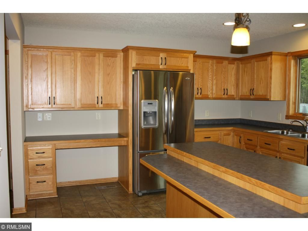 Lots of counter top space and a desk area in the kitchen as well.
