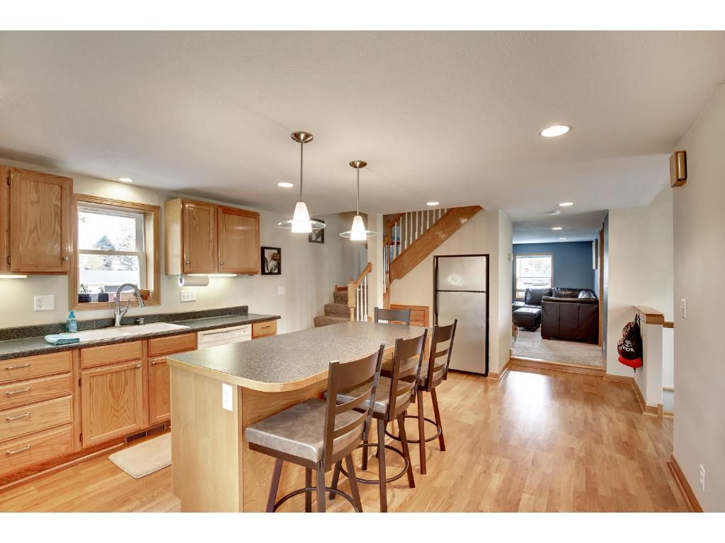 Great center island opens this kitchen for large group entertaining!