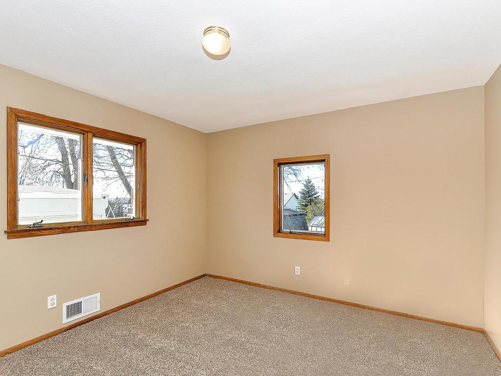 Three bedrooms on main level. Each with new carpet and paint.