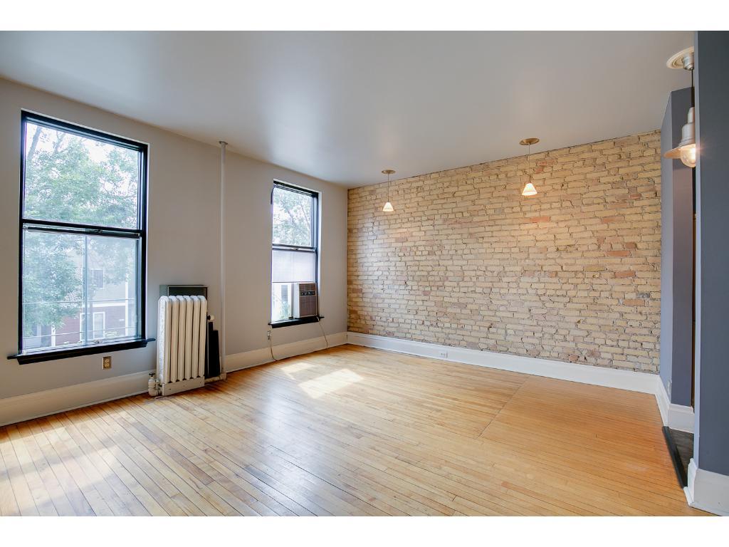 Lots of natural light, natural building brick and natural flooring