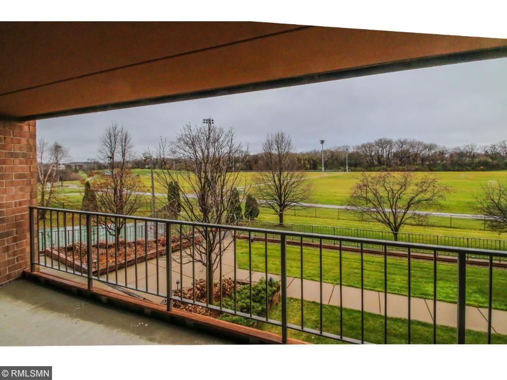 Large Balcony with awesome park views.  Unit is located at the back of the complex.
