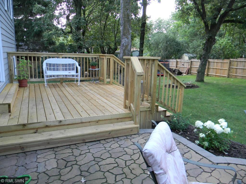 Deck and large back yard