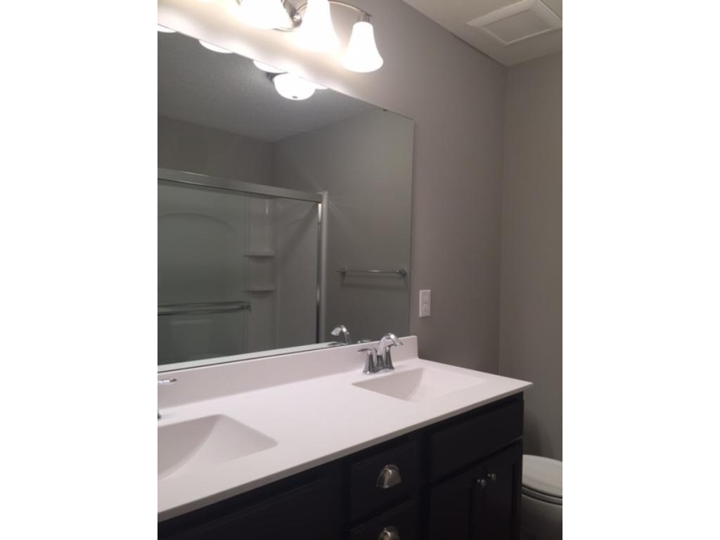 Master bath with 5' walk in shower and dual sinks