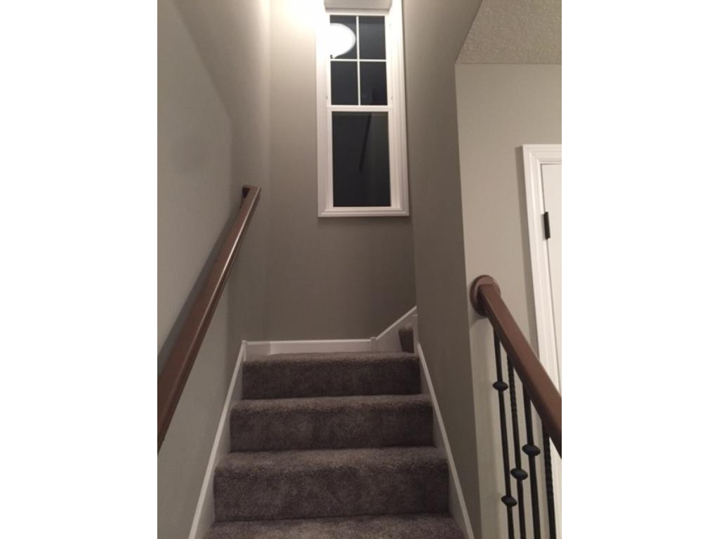 Wide & bright stairwell with lots of windows