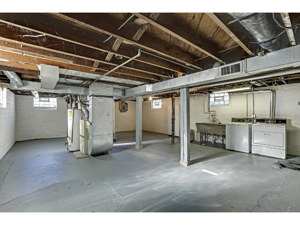 Nice clean basement has plenty of headroom and is already drain tiled with sump making it ideal for finishing to add living space.