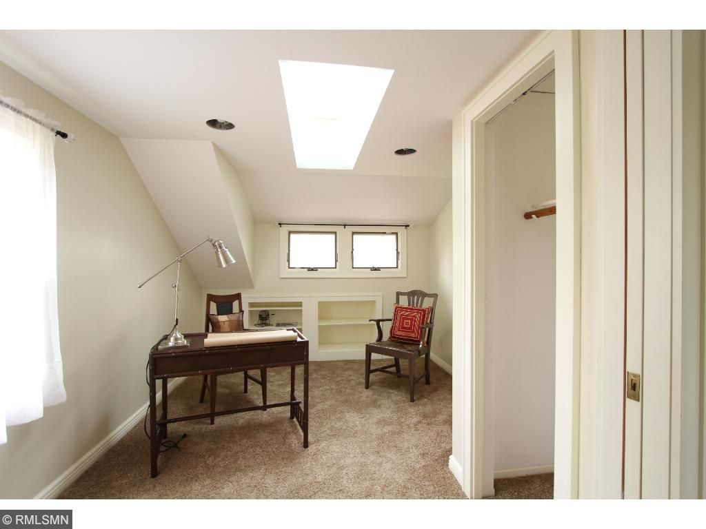 Skylights fill this room with light! Perfect for a home office or a bedroom or...Dream studio???