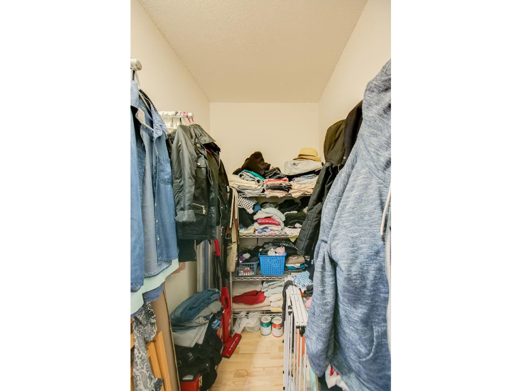 Inside of studio, huge walk in closet