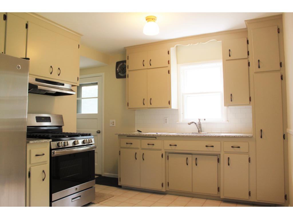 New appliances and granite countertops.