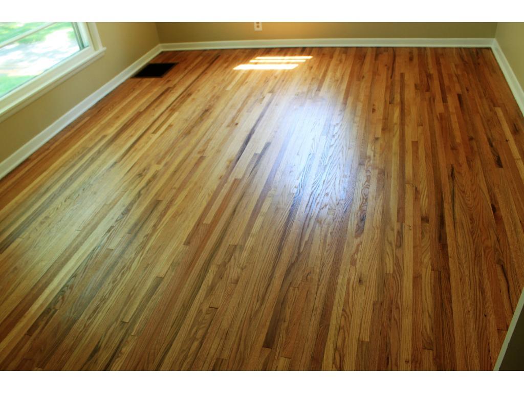 Newly refinished hardwood floors!