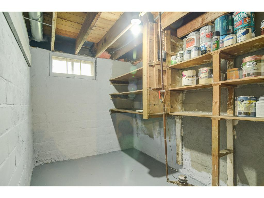 Another storage space in the basement.