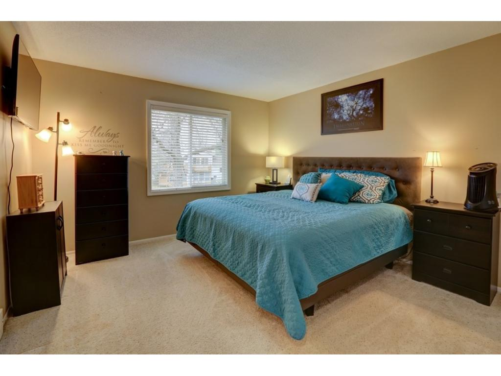 Large master bedroom. There is an adjacent, walk-through master bathroom as well.