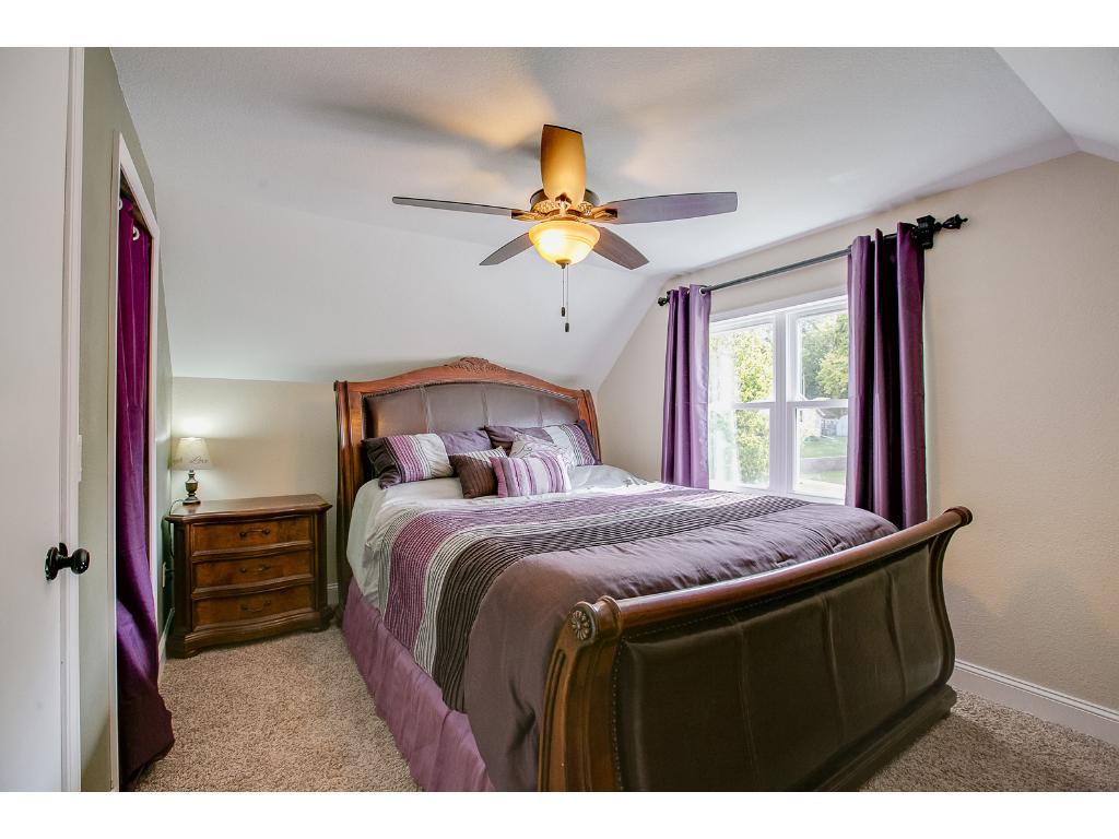 Spacious Master bedroom fits Owner's oversized furniture.