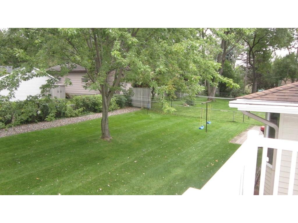 The manicured lawn is spacious and there is an automatic sprinkling system to make keeping it healthy easy!