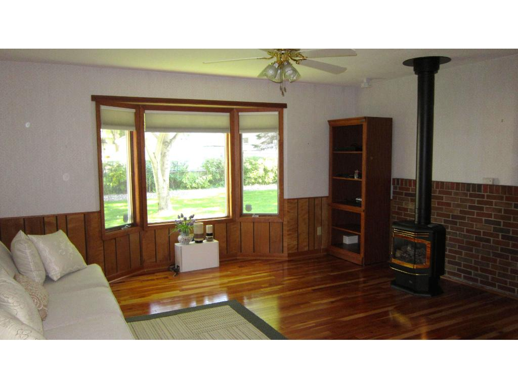 Wood burning stove fireplace in family room makes this a great winter room!