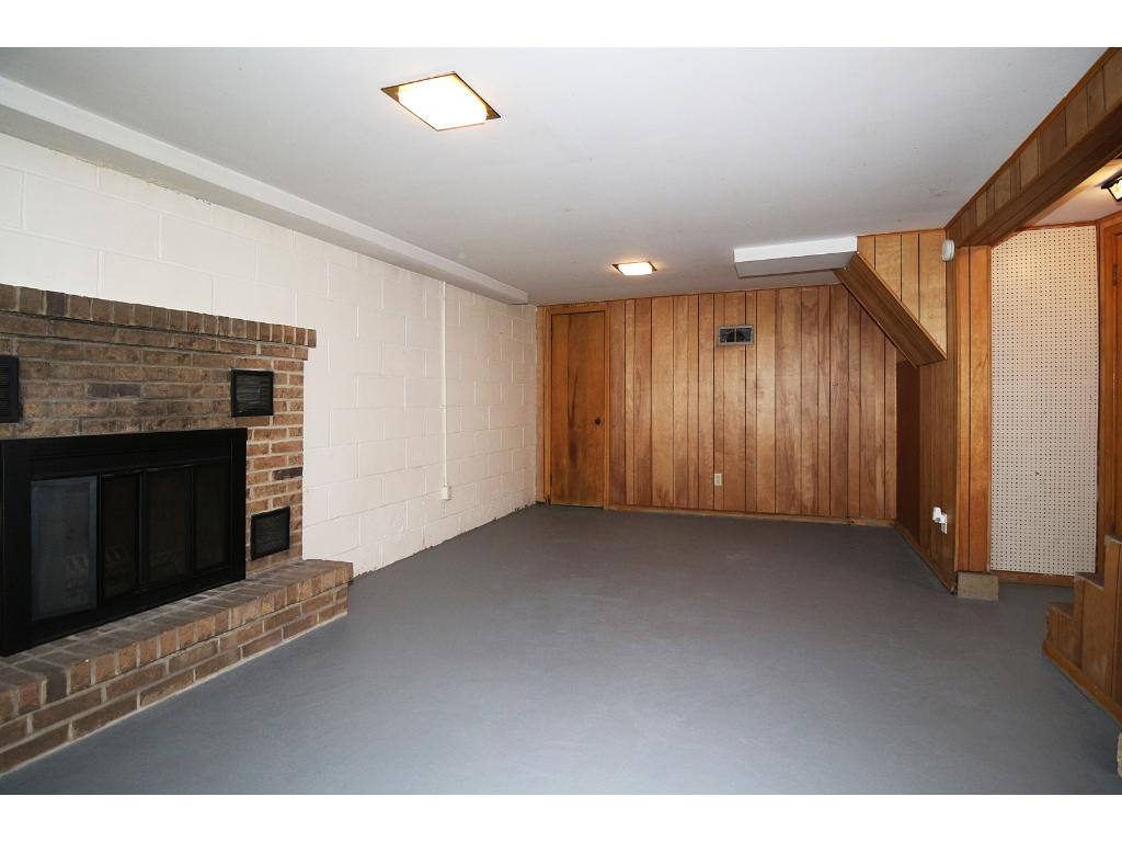 Basement with fireplace!