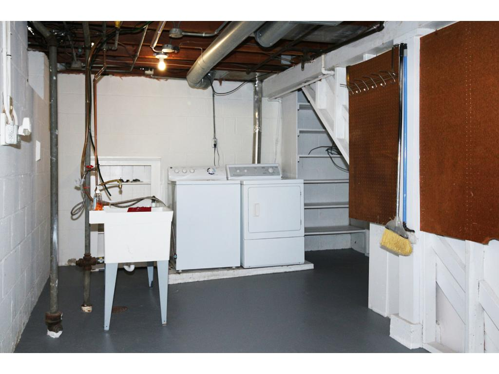 Laundry room has tons of storage!