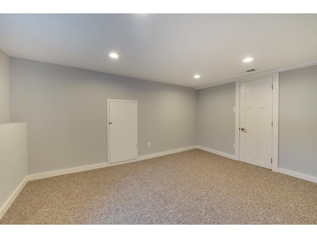 Good Sized Bedroom on the Lower Level or use it as a Family Room.  Look at those beautiful Recessed LED Lights.