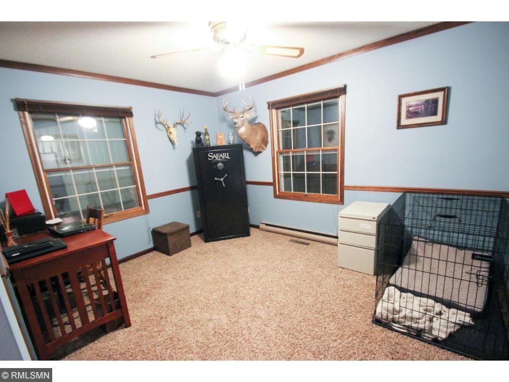 Main floor bedroom being used as office.