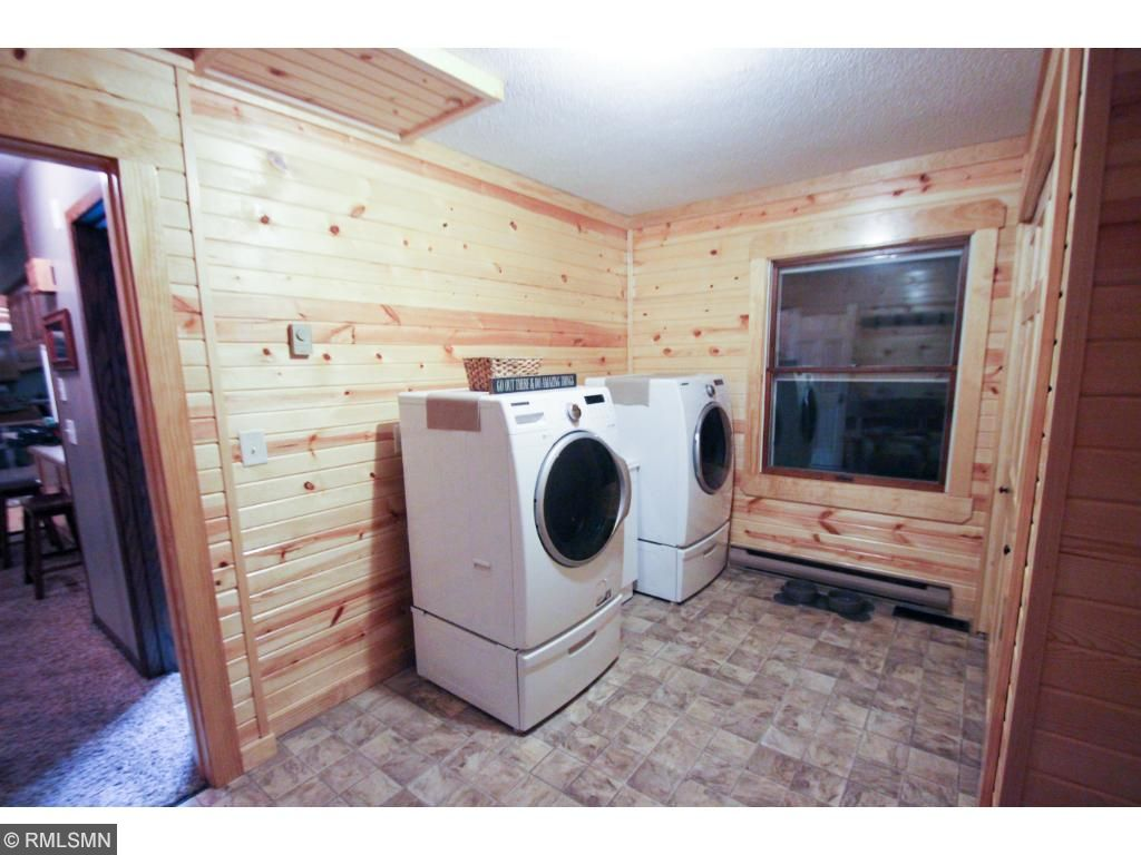 Good size entry and laundry.