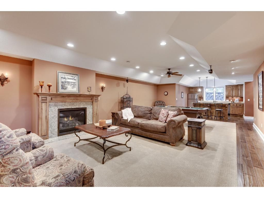 Travel to the lower level to find a handsome Family Room.