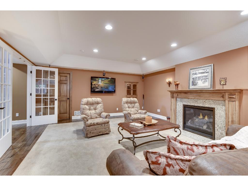 A gas fireplace, great built-ins, and surround-sound complete this fabulous Family Room.