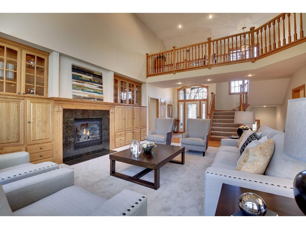 The overhead loft offers views of the Foyer and the Great Room.