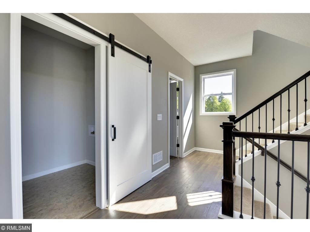 Beautiful barn door option. Images of completed Home #4. Pleasant Ridge. Summit Hill., St. Paul.