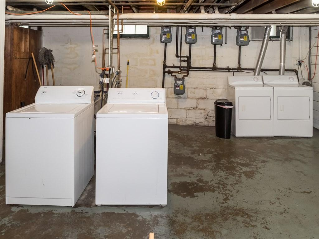 Two sets of washers and dryers
