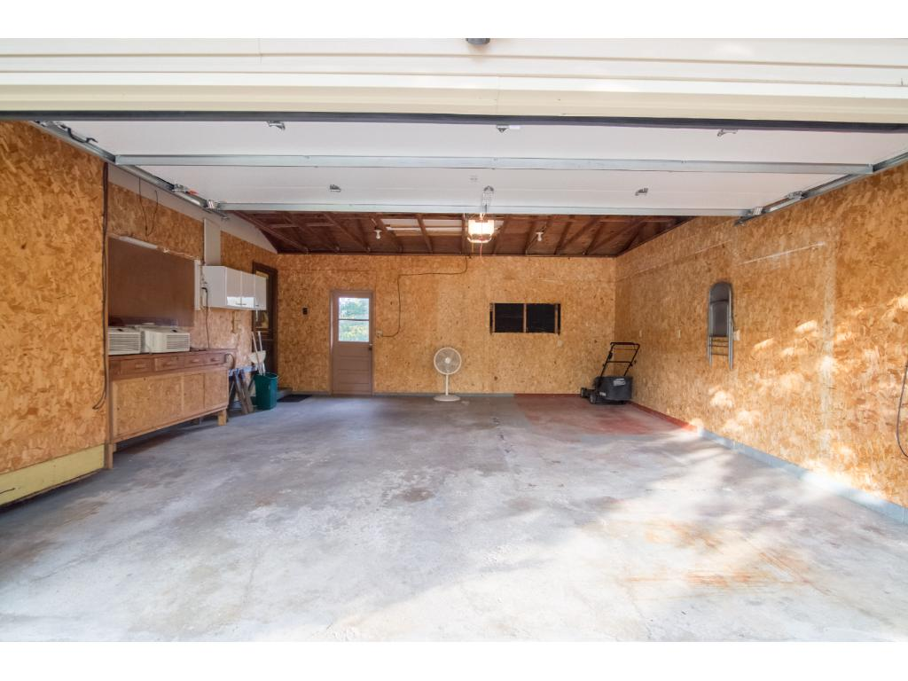 Large insulated attached garage