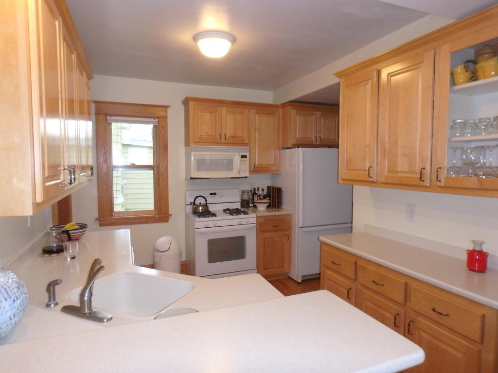 Remodeled kitchen with Corian Countertops!