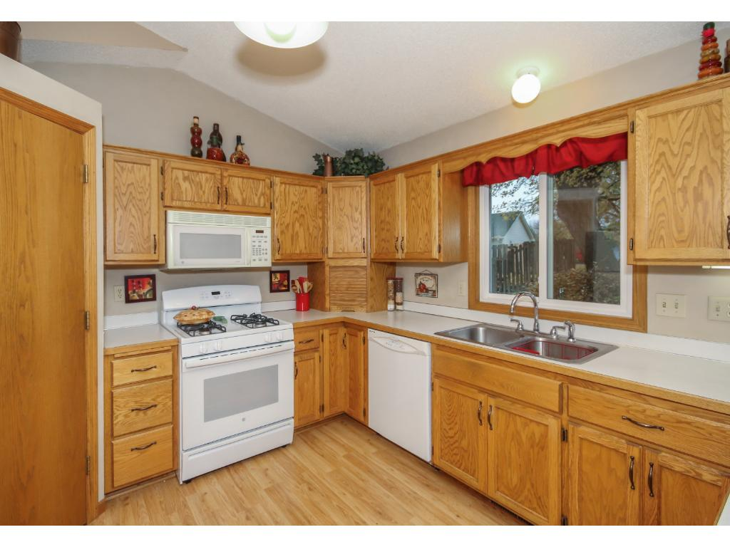 Very functional kitchen with great natural light and loads of elbow room to move around. Invite all the cooks in the family to cook a meal together.