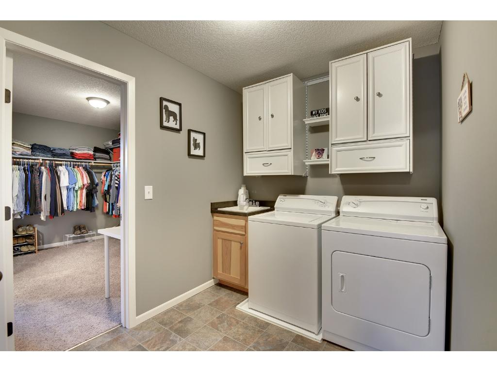 Laundry room conveniently located on the upper level close to all bedrooms.