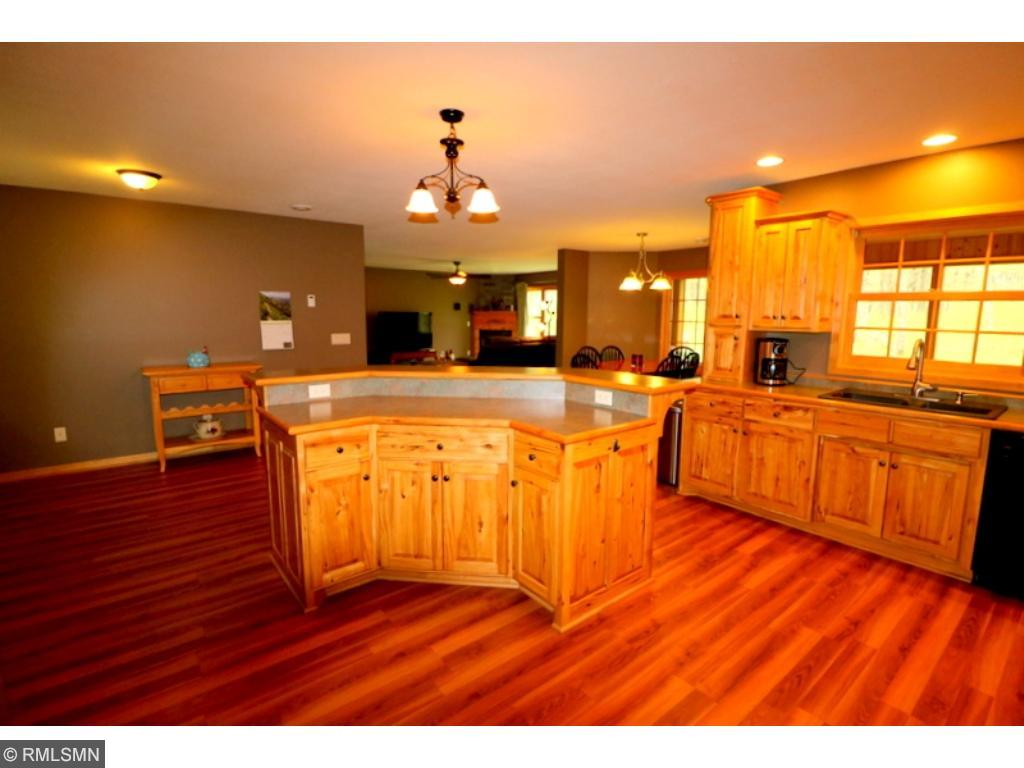 Large kitchen and open floor plan