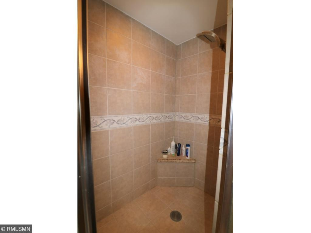 Large shower in master bathroom