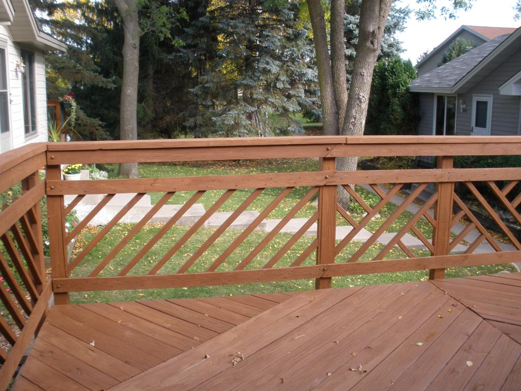 Large deck newly stained.