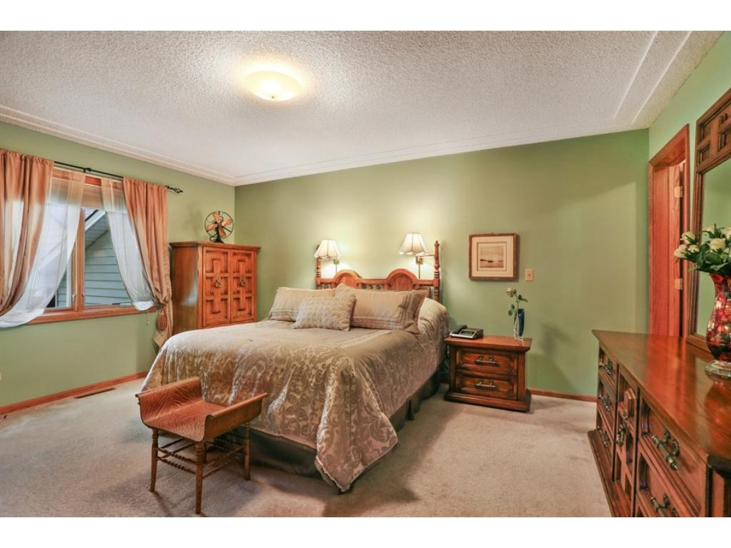 Master bedroom features a large closet for all your belongings and lots of space for your furniture.