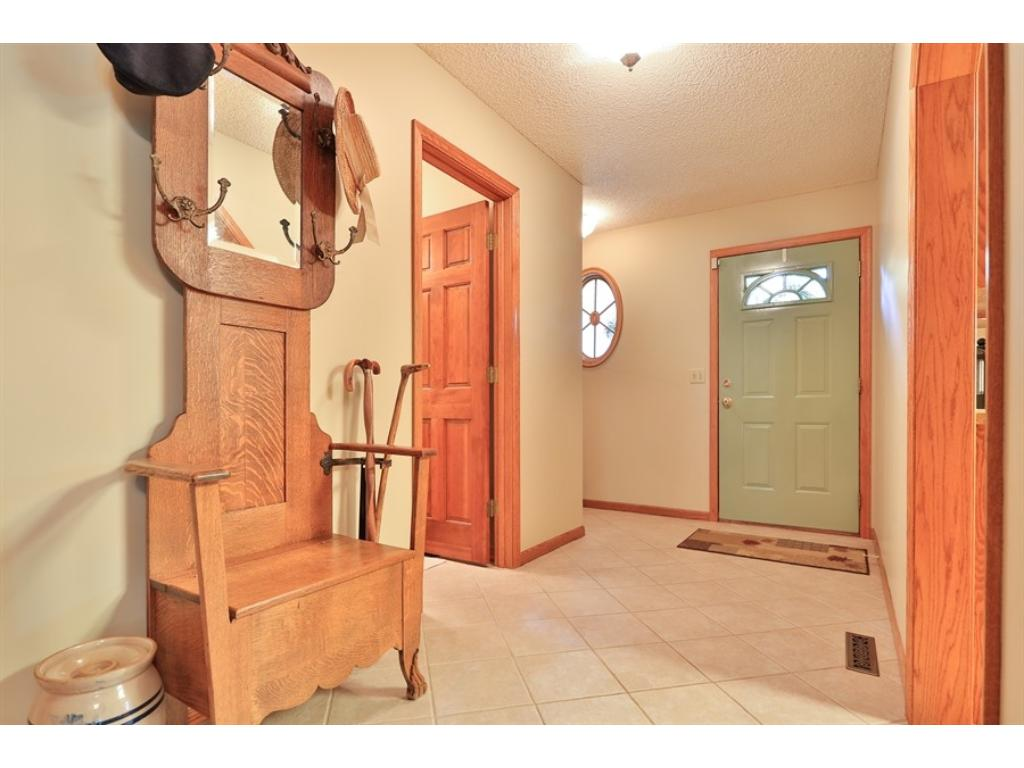 Large entry/foyer with entrances from the garage and front door.