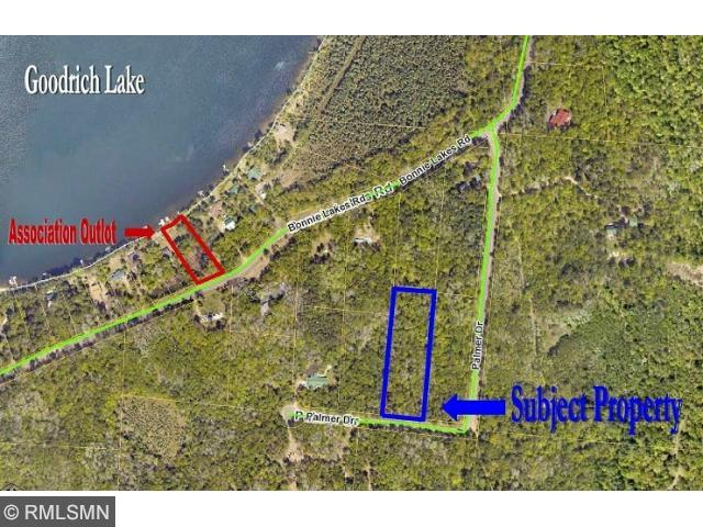 Goodrich Lake deeded access lot.