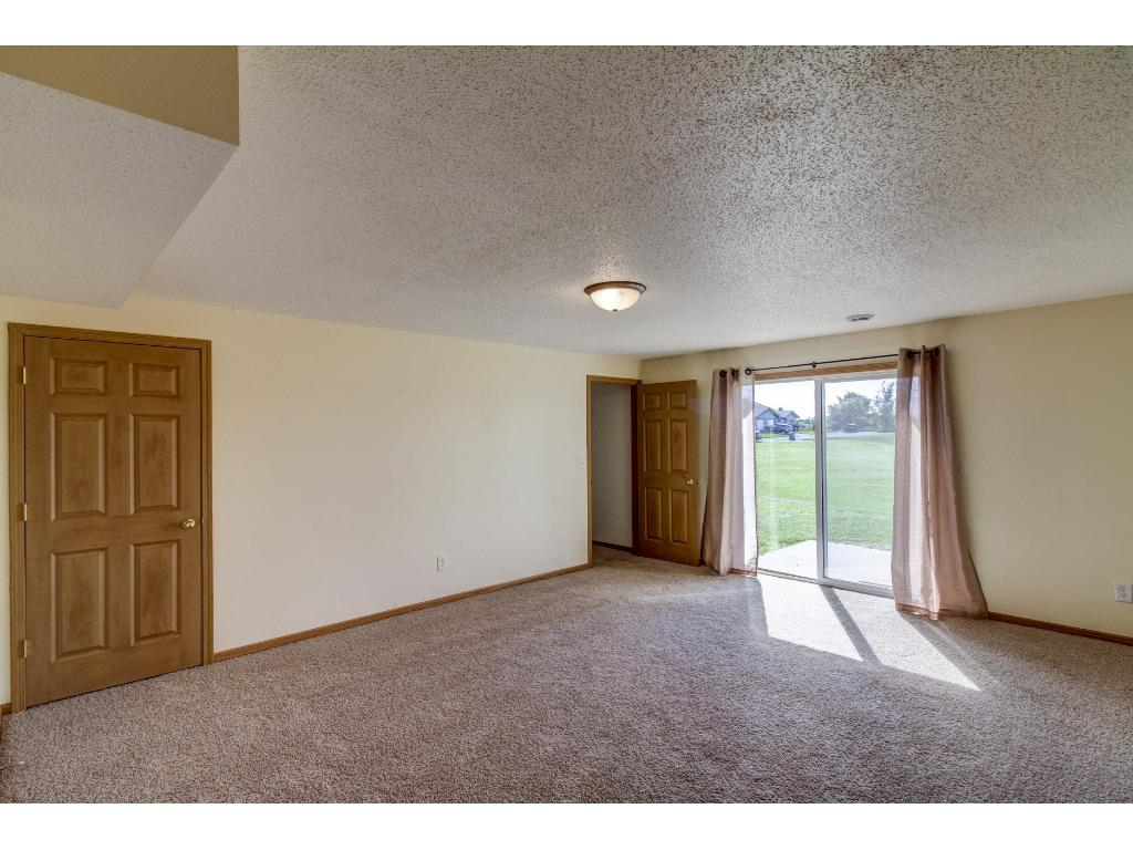 Lower Family Room with walkout to patio
