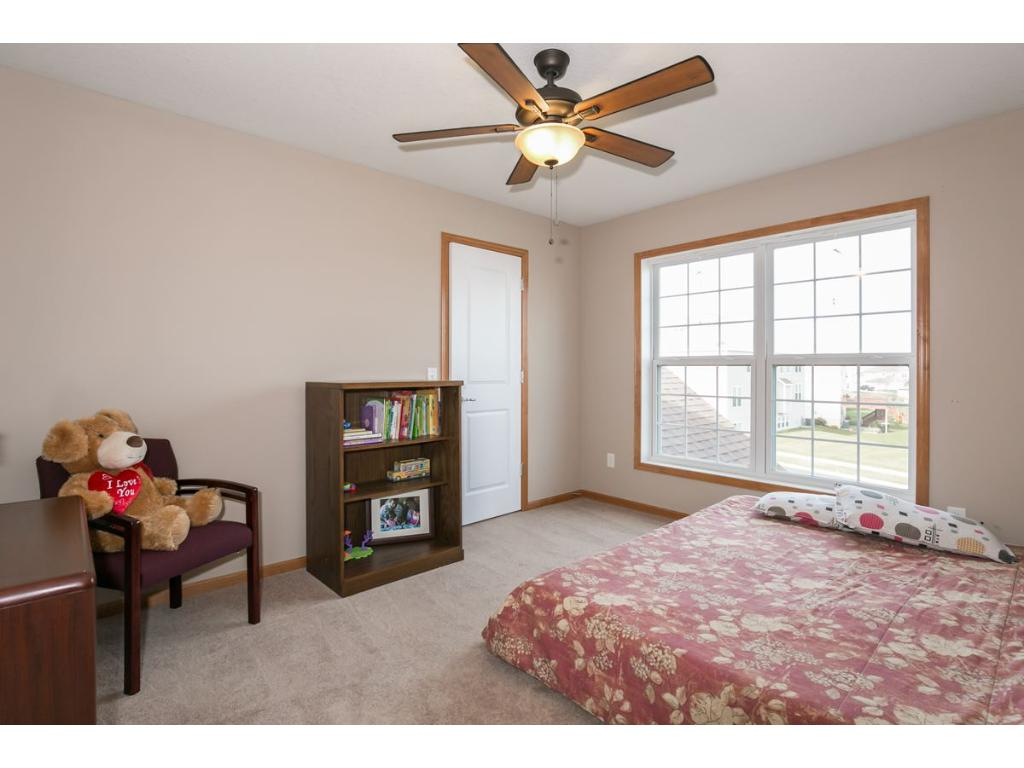 Bright Front Bedroom on the Upper Level.