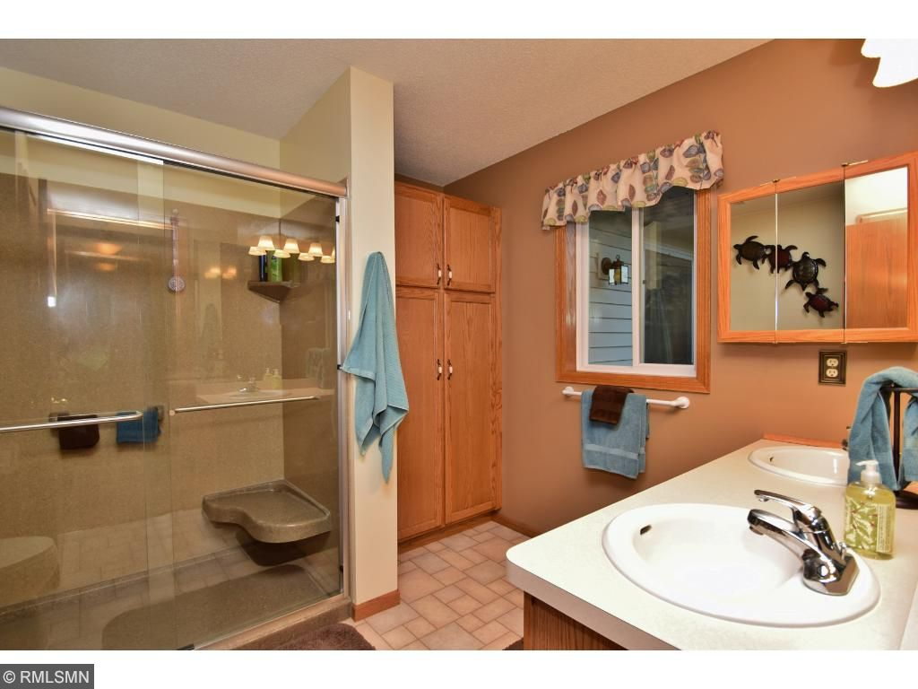 Master bath with spacious walk-in shower