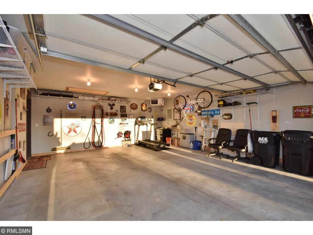 Oversized 2 car insulated garage with industrial thermostat