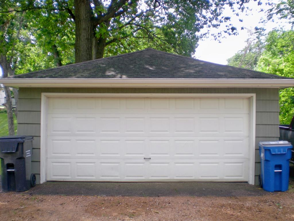 Two car garage is heated and insulated.